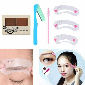 New Arrival 3Pcs/Set Eyebrow Shadow Definition Makeup Brow Stamp Powder Palette Delicated Natural Rated 4.9 /5 based on 37 custo