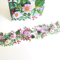 Flora Grass washi masking tape mt
