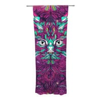 "Danny Ivan ""Space Cat"" Decorative Sheer Curtains"