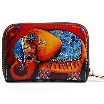 Buvelife Credit Card Wallet RFID Leather Zipper Clutch Wallets Wallet for Women