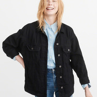 Womens Girlfriend Denim Jacket | Womens Coats & Jackets | Abercrombie.com