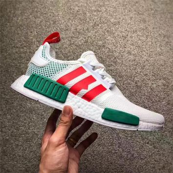 With Original Box NMD X Krispy Kreme Running Shoes Women Mens Shoes Real Boost White Casual Shoes Summer 36-45