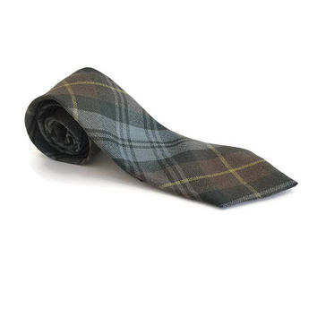 Gents Wool Tartan Tie, Gordon Tartan Men's Necktie, Scot Clans Tartan Tie Made in Scotland, Scottish Clan Tartan, Mens Accessories
