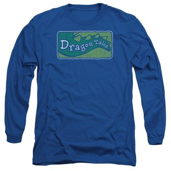 Dragon Tales - Logo Distressed Long Sleeve Adult 18/1