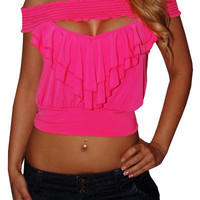 Be Friendly (Pink)-Great Glam is the web's top online shop for trendy clubbin styles, fashionable party dress and bar wear, super hot clubbing clothing, stylish going out shirt, partying clothes, super cute and sexy club fashions, halter and tube tops, be