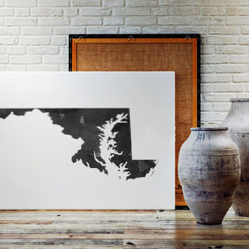 USA MAP PRINTABLE Maryland watercolor Iowa print Maryland state silhouette Maryland map Maryland printable Maryland wall art Usa Map Art