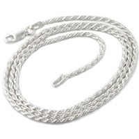 "2mm Sterling Silver 18"" Diamond-Cut Rope Chain Necklace(Lengths 14"",16"",18"",20"",22"",24"",30"",36"")"