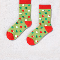 Crew Socks for Women Christmas Multi-Color Ornament Ball Design | Yo Sox