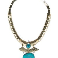 MANGO - NEW - Turquoise ethnic necklace