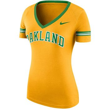 Nike Oakland Athletics Ballpark Fan Top - Women's, Size: