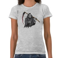 Grim Reaper Ladies Burn Out Tees from Alienwear Apparel