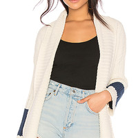 27 miles malibu Tallie Cardigan in White & Navy