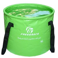 Premium Compact Collapsible Bucket By Freegrace - Portable Folding Water Container - Lightweight & Durable - Includes Mesh Pocket - Available In Multiple Colors & Sizes
