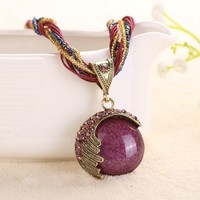 National style necklace vintage alloy pendant