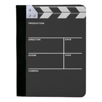 Clapboard cinema for action padfolio