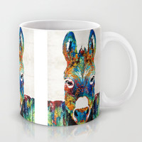 Colorful Donkey Art - Mr. Personality - By Sharon Cummings Mug by Sharon Cummings