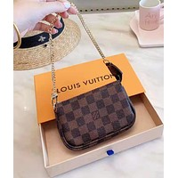 LV Louis Vuitton Classic Fashion Women Shopping Leather Handbag Shoulder Bag Satchel