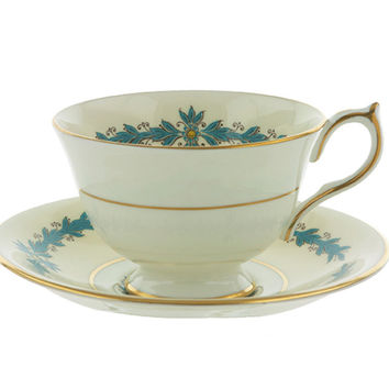 Vintage Teacup and Saucer Set, Aynsley Cambridge Pattern 7818, English Fine Bone China