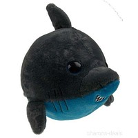 "Sea World 9"" Shark Bubble Zoo Plush Toy Blue Gray Stuffed Animal Embroidered NEW"