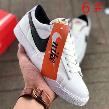 NIKE SB Zoom Blazer Low Fashion New Hook Print Couple Leisure Running Shoes