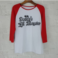"""Daddy's Lil Monster"" 3/4 Sleeve T-Shirt B0014257"