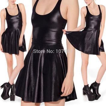 Look Leather Skater Dress