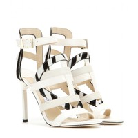 Vanquish snakeskin and leather sandals