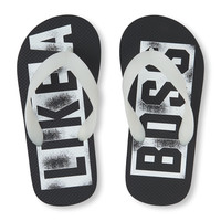 Boys 'Like a Boss' Glow-in-the-Dark Flip Flop | The Children's Place