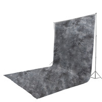 6 x 9 ft Gray Photography Backdrop Photo Studio Hand Painted Background Muslin