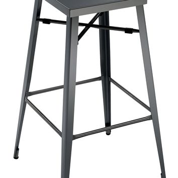 Industrial Style 30 Inches Bar Stool, Gun Metal Gray, Set of 2