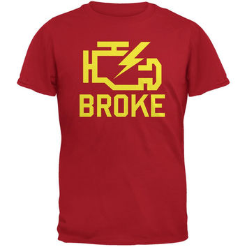 Automotive Broke Engine Light Red Adult T-Shirt