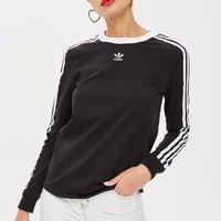 Three Stripe Long Sleeve T-Shirt by adidas | Topshop