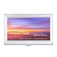 Relaxation Beach Elegant Spa Travel vacation Business Card Holder