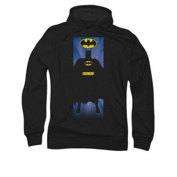Batman Bat Block DC Comics Licensed Adult Pullover Hoodie