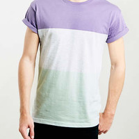 PASTEL BLOCK STRIPE T-SHIRT