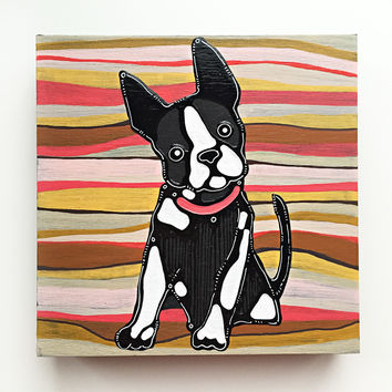 Boston Terrier Painting