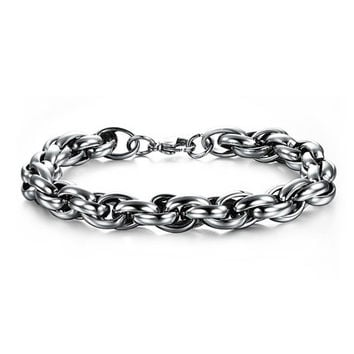 Stainless Steel Intertwined Chain Bracelet