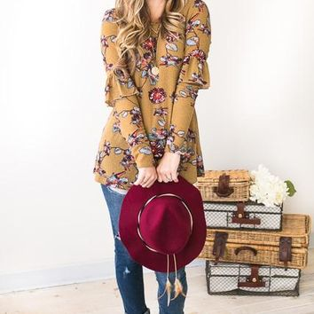 Funky Fun Floral Cute Top