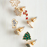 In It For the Long Holiday Earring Set by ModCloth