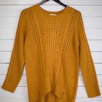 Peanut Brittle Open Knit Sweater