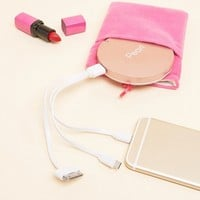 Pearl Compact Mirror USB Battery Pack at asos.com