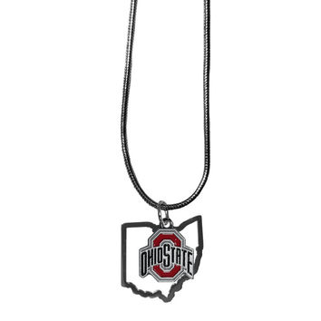 Ohio St. Buckeyes State Charm Necklace CSN38