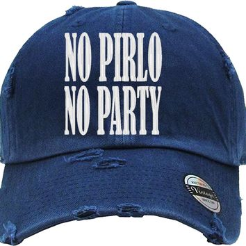 no pirlo no party Distressed Baseball Hat