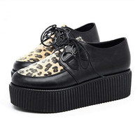 CREEPERS shoes LEOPARD print 90s GRUNGE