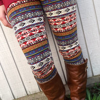 Ethnic Print Leggings {Taupe} | The Rage
