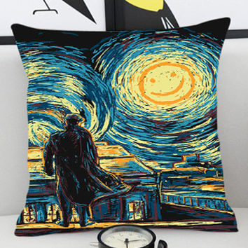 Starry Night Fall Sherlock - Pillow Cover by PillowKesetiaan.
