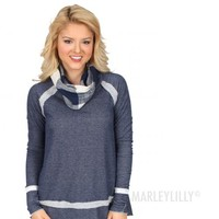 Warm Enough Plaid Cowl Neck Sweater | Marleylilly