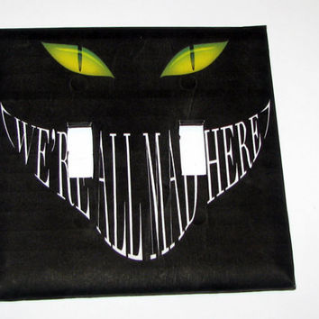 Double Light Switch Cover - Light Switch Plate Cheshire Cat Alice In Wonderland