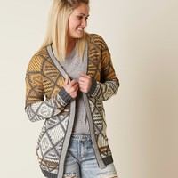 HEM & THREAD JACQUARD CARDIGAN SWEATER