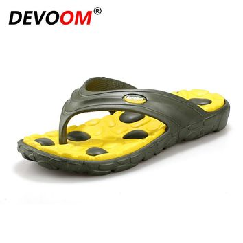 DEVOOM Mens Flip Flops 2017 New Fashion Summer Slippers Casual Beach Sandals For Men Shoes Male Footwear Sapato masculino Zapato